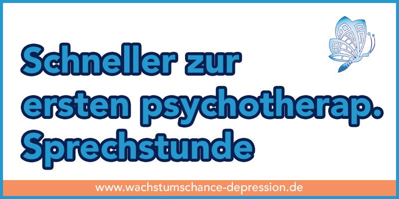 Seit 1. April 2017: schneller zur ersten Psychotherapeutischen Sprechstunde