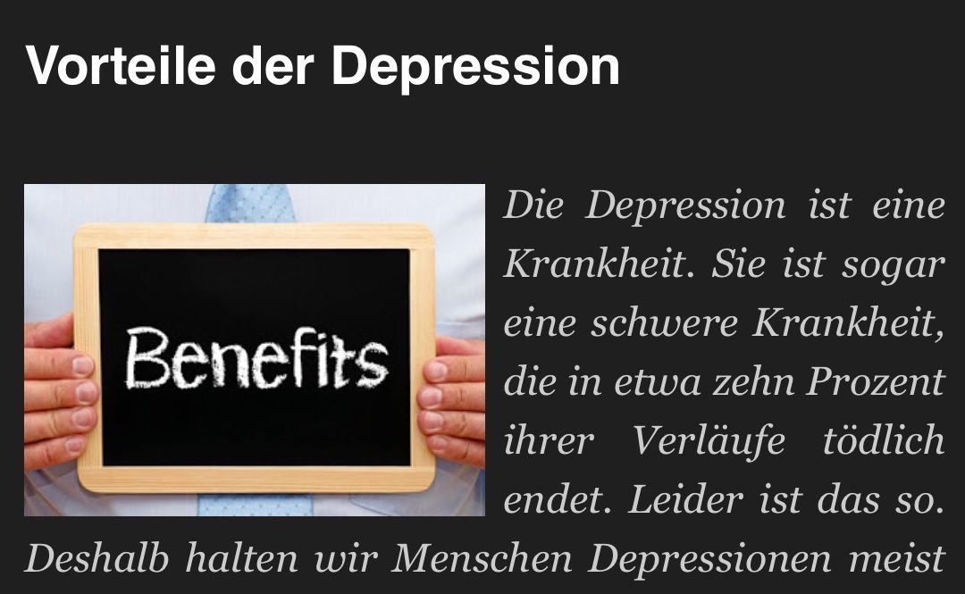 Nutzen von Depressionen