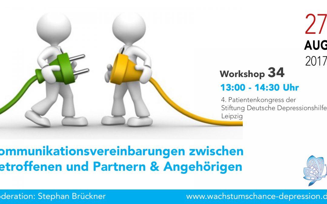 """Workshop 34: """"Kommunikationsvereinbarungen zwischen Betroffenen und deren Lebenspartnern, Angehörigen und Freunden"""""""